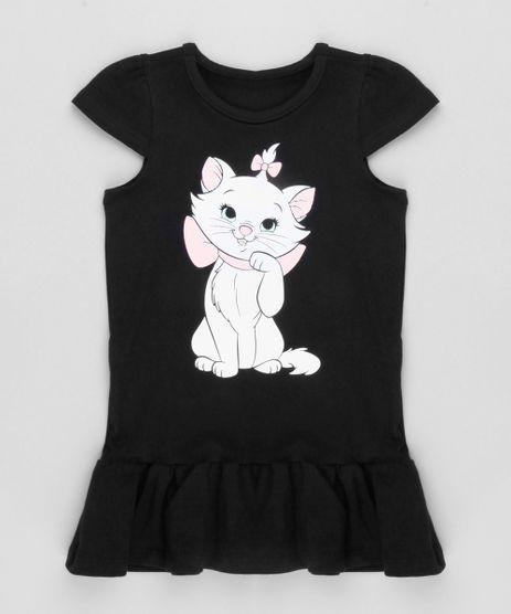 Vestido-Infantil-Marie-com-Babado-Manga-Curta-Decote-Redondo-em-Algodao---Sustentavel-Preto-9169078-Preto_1
