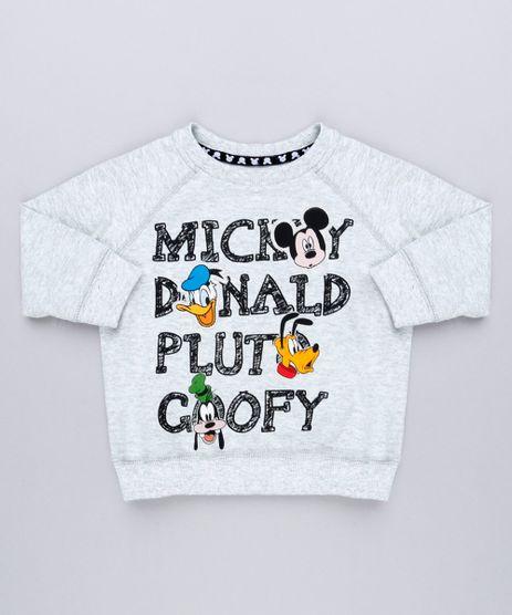Blusao-Infantil-Estampado-Turma-do-Mickey-em-Moletom-Manga-Longa-Gola-Careca-Cinza-Mescla-9140245-Cinza_Mescla_1
