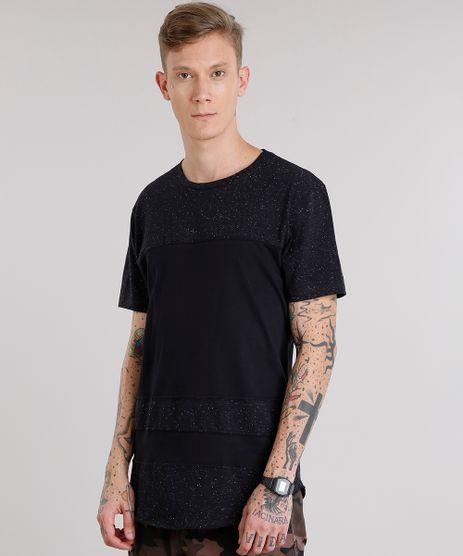 Camiseta-Masculina-Longa-Botone-com-Recorte-Manga-Curta-Decote-Careca-Preta-9152170-Preto_1