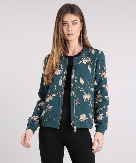 Jaqueta-Feminina-Bomber-Estampada-Floral-com-Bolso-Verde-Escuro-8934173-Verde_Escuro_1