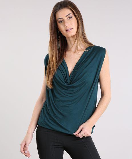Regata-Feminina-Gola-Degage--Verde-Escuro-9109608-Verde_Escuro_1