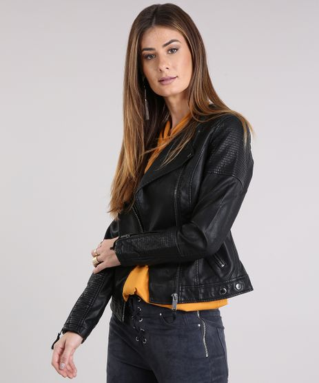 Jaqueta-Feminina-Biker-com-Bolsos-Preta-8866058-Preto_1