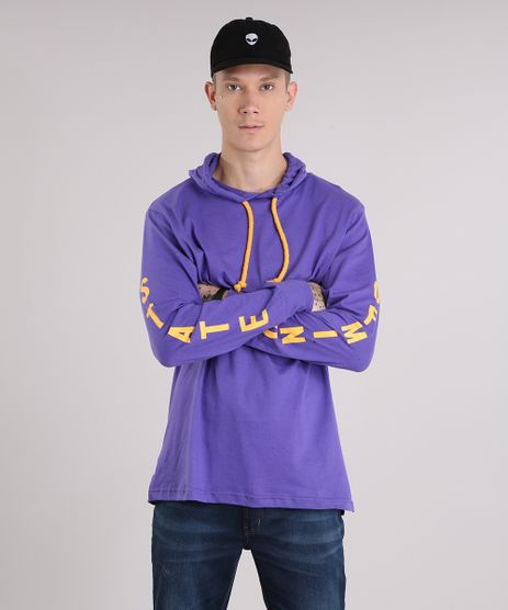 Camiseta-Masculina--State-of-Mind--com-Capuz-Manga-Longa-Gola-Careca-Roxa-9152163-Roxo_1