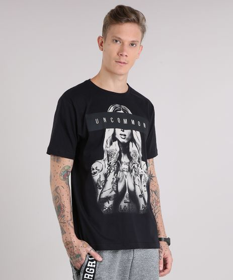 Camiseta-Masculina--Uncommon--Manga-Curta-Gola-Careca-Preta-9149163-Preto_1