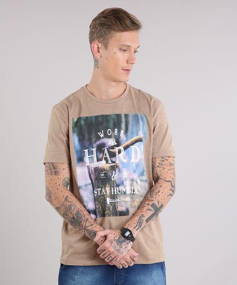 Camiseta-Masculina--Work-Hard--Manga-Curta-Gola-Careca-Caramelo-9127315-Caramelo_1