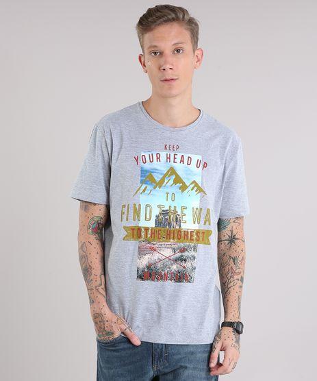 Camiseta-Masculina--Find-The-Way--Manga-Curta-Gola-Careca-Cinza-Mescla-9102770-Cinza_Mescla_1
