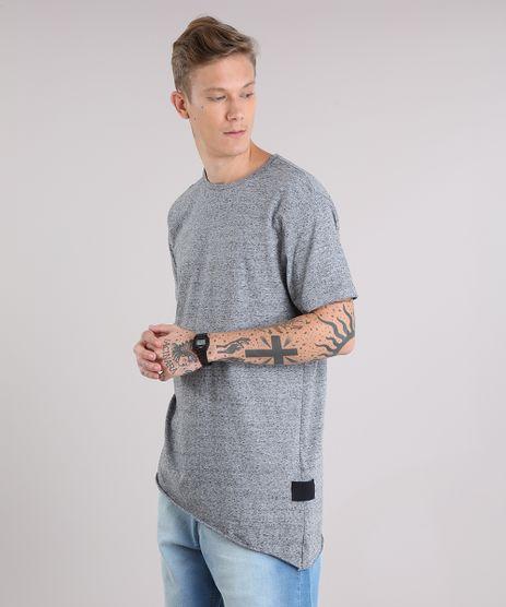 Camiseta-Masculina-Longa-Assimetrica-Manga-Curta-Gola-Careca-Cinza-Mescla-9152166-Cinza_Mescla_1