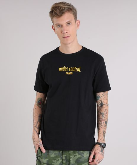 Camiseta-Masculina--Under-Control---Manga-Curta-Gola-Careca-Preta-9151472-Preto_1