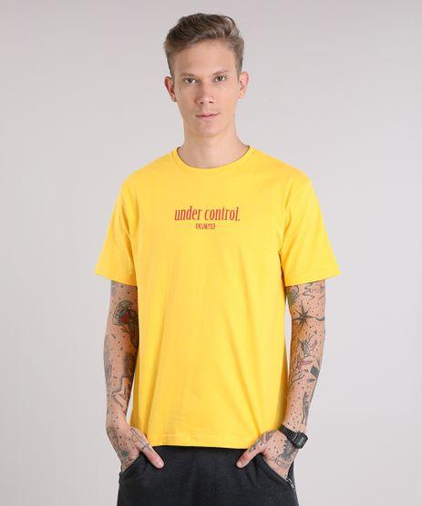 Camiseta-Masculina--Under-Control---Manga-Curta-Gola-Careca-Amarela-9151472-Amarelo_1