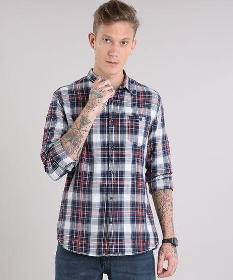 Camisa-Masculina-Xadrez-com-Bolso-Manga-Longa-Off-White-8886528-Off_White_1