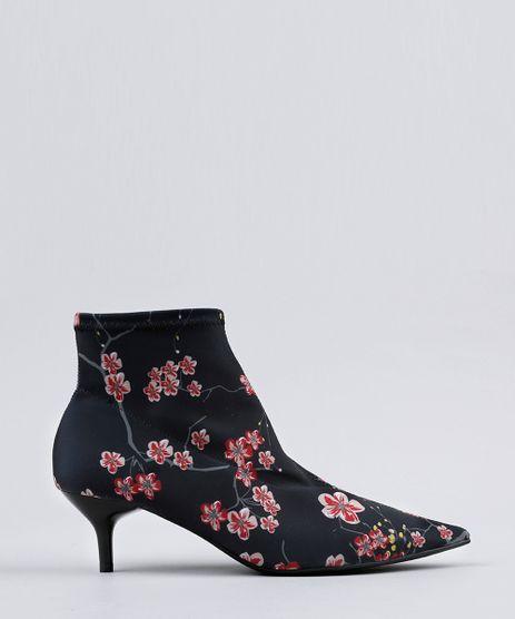 Bota-Feminina-Bico-Fino-Kitten-Hell-Estampada-Floral-Salto-Baixo-Preta-9070663-Preto_1