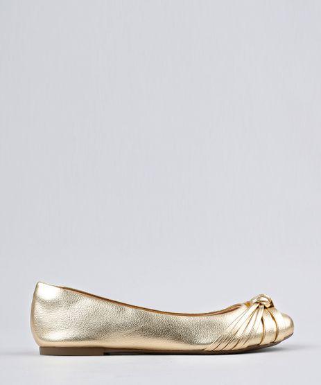 Sapatilha-Feminina-Bico-Redondo-Via-Uno-com-No-Metalizada-Dourada-9186447-Dourado_1