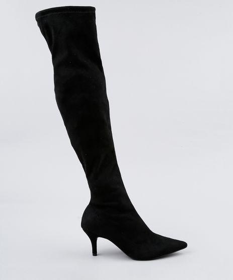 Bota-Feminina-Over-The-Knee-Bico-Fino-Vizzano-em-Suede-Salto-Baixo-Preta-9082371-Preto_1