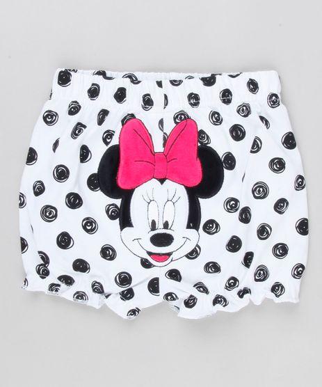 Short-Infantil-Minnie-Estampado-de-Poa-em-Algodao---Sustentavel-Branco-8928781-Branco_1