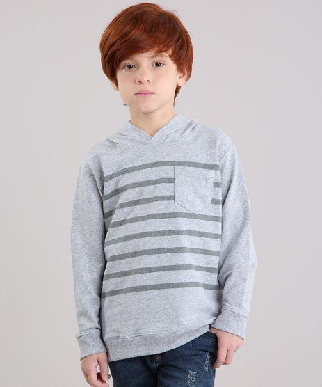 Camiseta-Infantil-com-Estampa-Listrada-com-Capuz-Manga-Longa-Cinza-Mescla-9153190-Cinza_Mescla_1