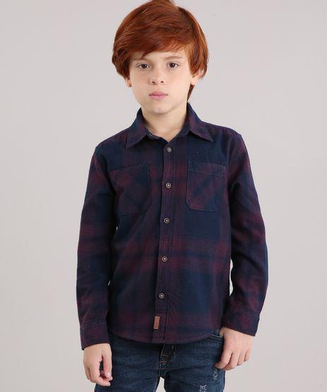 Camisa-Infantil-Xadrez-em-Flanela-com-Bolso-Manga-Longa-Azul-Marinho-1-8853266-Azul_Marinho_1_1