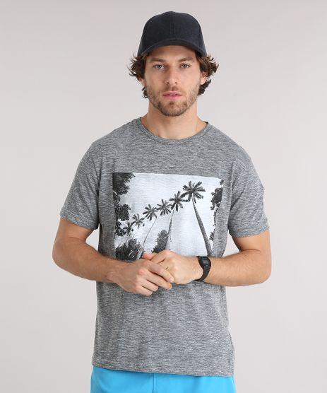 Camiseta-Masculina-Manga-Curta-Gola-Careca-com-Estampa-de-Coqueiros-Cinza-Mescla-9125861-Cinza_Mescla_1