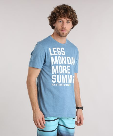 Camiseta-Masculina-Manga-Curta-Gola-Careca-com-Estampa--Less-Monday-More-Summer--Azul-9159185-Azul_1