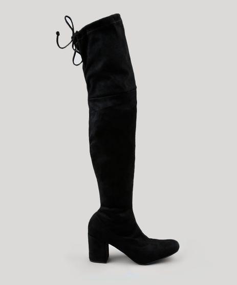 Bota-Feminina-Over-The-Knee-em-Suede-com-Salto-Alto-Preta-9071632-Preto_1