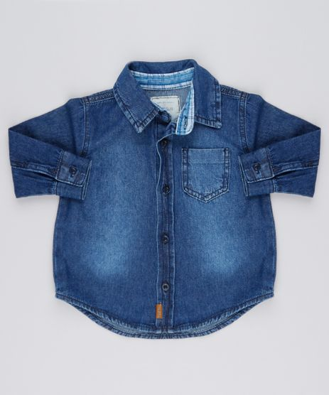 Camisa-Jeans-Infantil-Manga-Longa-com-Bolso-Azul-Escuro-8731194-Azul_Escuro_1