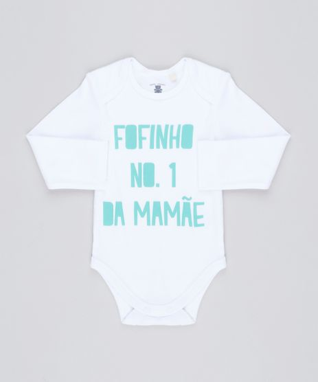 Body-Infantil--Fofinho-N-1-da-Mamae--Manga-Longa-Decote-Redondo-em-Algodao---Sustentavel-Branco-8921632-Branco_1