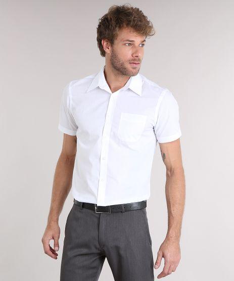 Camisa-Masculina-Comfort-Manga-Curta-com-Bolso-Branca-7602490-Branco_1