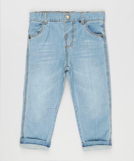 Calca-Jeans-Infantil-com-Forro-em-Malha--Azul-Claro-9100200-Azul_Claro_1