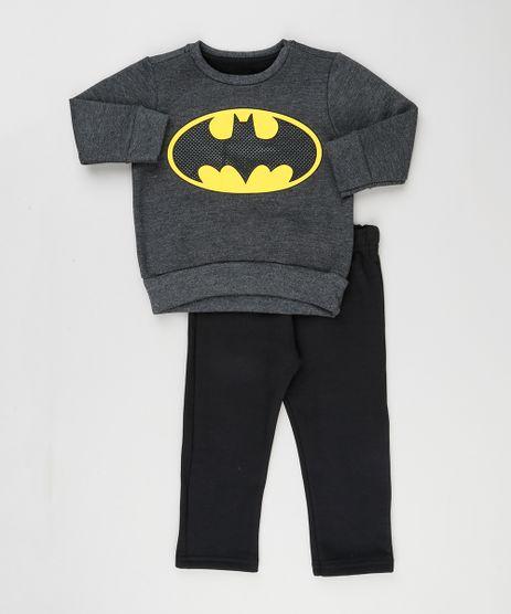 Conjunto-Infantil-Batman-de-Blusao-Cinza-Mescla-Escuro--Calca-em-Moletom-Preta-9129252-Preto_1