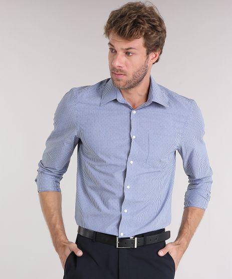 Camisa-Masculina-Comfort-Listrada-Manga-Longa-com-Bolso-Azul-8856411-Azul_1