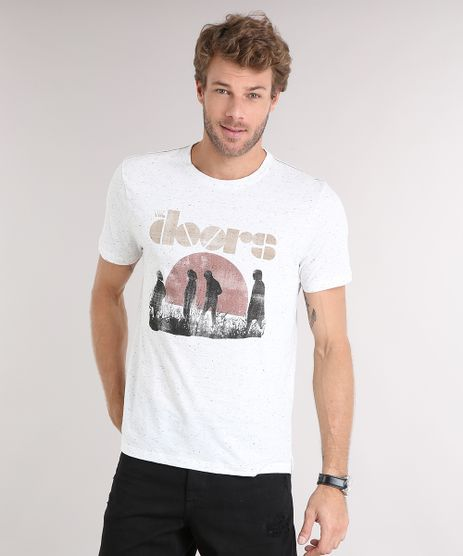 Camiseta-Masculina-The-Doors-Manga-Curta-Gola-Careca-Off-White-9115037-Off_White_1