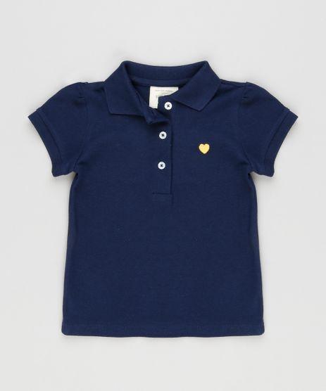 Polo-Infantil-em-Piquet-Manga-Curta-com-Franzido-Azul-Marinho-9064325-Azul_Marinho_1
