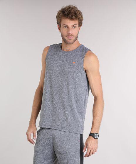 Regata-Masculina-Esportiva-Ace-com-Listras-Gola-Careca-Cinza-Mescla-9153551-Cinza_Mescla_1