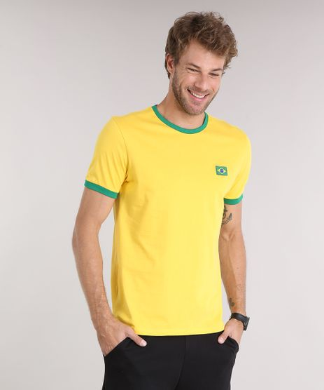 Camiseta-Masculina-Esportiva-Ace-Brasil--10--Manga-Curta-Gola-Careca-Amarela-9175071-Amarelo_1