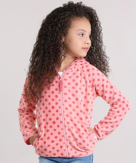 Blusao-Infantil-com-Capuz-Estampado-de-Poa-em-Fleece-Rosa-8833502-Rosa_1