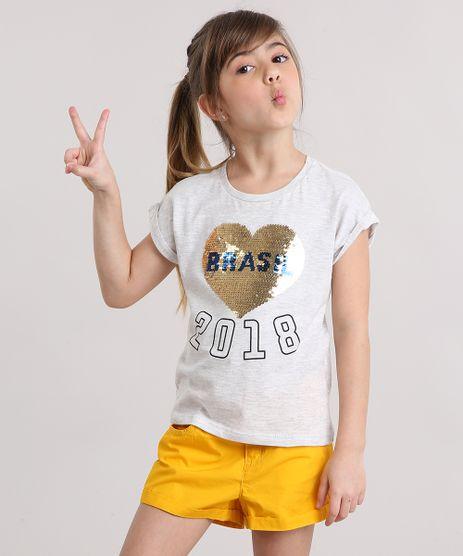 Blusa-Infantil-Brasil-com-Paetes-Dupla-Face-Manga-Curta-Decote-Redondo-em-Algodao---Sustentavel--Cinza-Mescla-Claro-9169159-Cinza_Mescla_Claro_1