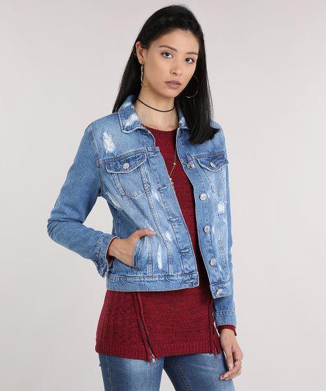 Jaqueta-Jeans-Feminina-Destroyed-Manga-Longa-Azul-Claro-9112672-Azul_Claro_1