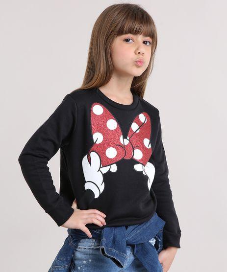 Blusao-Infantil-Minnie-com-Glitter-em-Moletom-Manga-Longa-Decote-Redondo-Preto-9156743-Preto_1