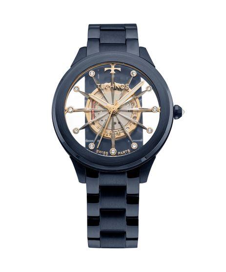 04d1bda513c Relógio Technos Feminino Essence Azul - F03101AD 4W