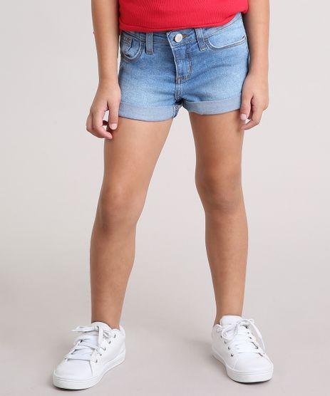 Short-Jeans-Infantil-com-Barra-Dobrada-em-Algodao---Sustentavel-Azul-Claro-9137923-Azul_Claro_1