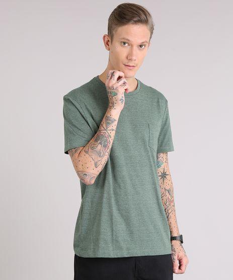 Camiseta-masculina-Basica-com-Bolso-Manga-Curta-Gola-Careca-Verde-Militar-8665999-Verde_Militar_1