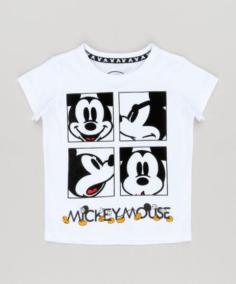 Camiseta-Infantil-Mickey-com-Veludo-Manga-Curta-Gola-Careca--Branca-9097691-Branco_1