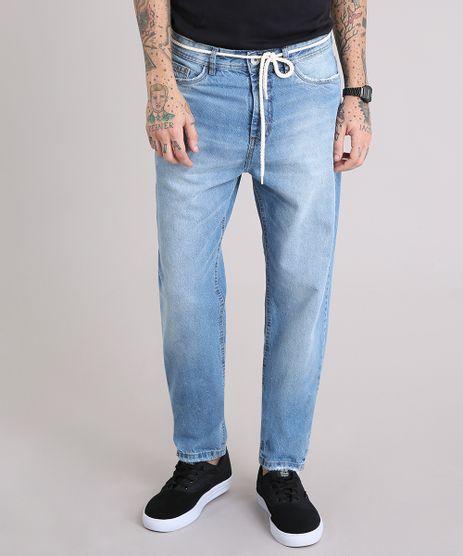 Calca-Jeans-Masculina-Baggy-com-Cordao-Azul-Claro-9166440-Azul_Claro_1