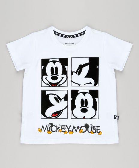 Camiseta-Infantil-Mickey-com-Veludo-Manga-Curta-Gola-Careca--Branca-9097697-Branco_1