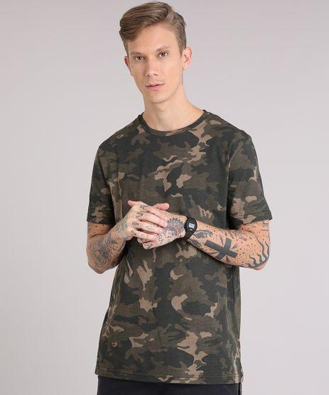 Camiseta-Masculina-Longa-Estampada-Camuflada-Manga-Curta-Gola-Careca-Verde-Militar-9153431-Verde_Militar_1