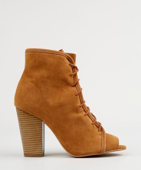 Bota-Ankle-Boot-Feminina-com-Amarracao-Salto-Alto-Caramelo-9132850-Caramelo_1