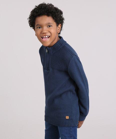 Sueter-Infantil-Gola-Alta-com-Ziper-em-Trico-Azul-Marinho-8868482-Azul_Marinho_1