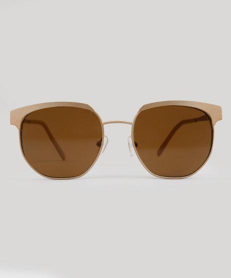 Oculos-de-Sol-Redondo-Feminino-Oneself-Dourado-9102660-Dourado_1