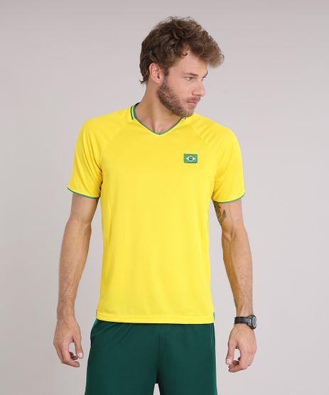 Camiseta-Masculina-Esportiva-Brasil-Ace-Manga-Curta-Amarela-9196266-Amarelo_1