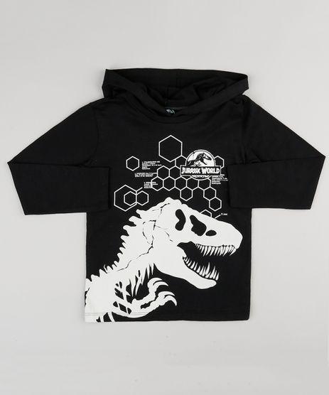Camiseta-Infantil-Jurassic-Park-Manga-Longa-com-Capuz-Preta-9142103-Preto_1