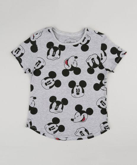 Blusa-Infantil-Mickey-Mouse-Manga-Curta-Decote-Redondo-Cinza-Mescla-9141769-Cinza_Mescla_1